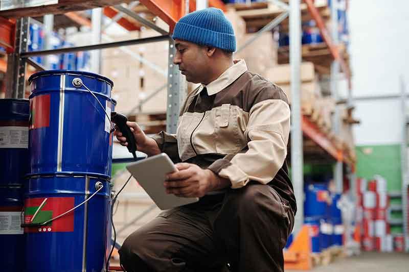 Working as an general labourer