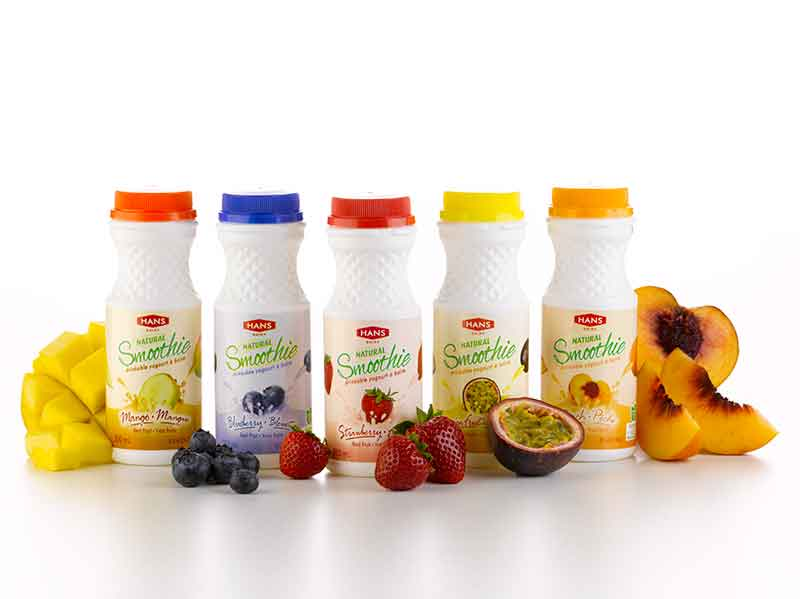 Hans Dairy smoothies