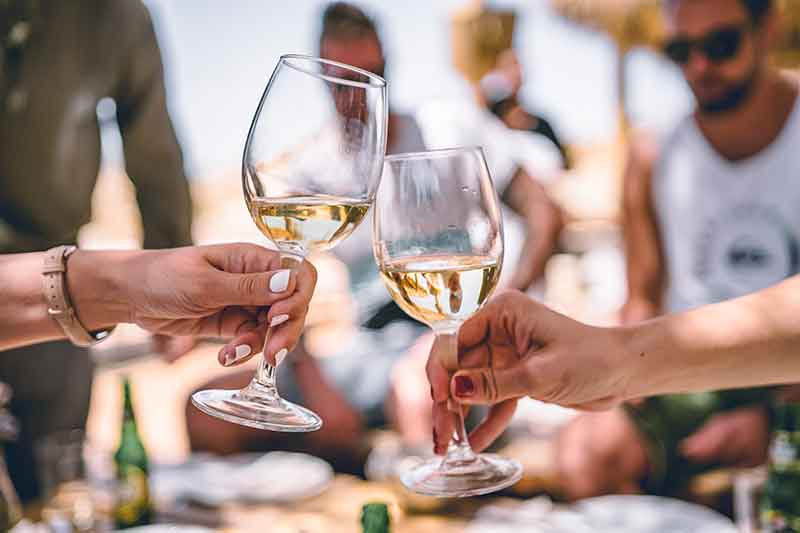 Picture of people tasting wine